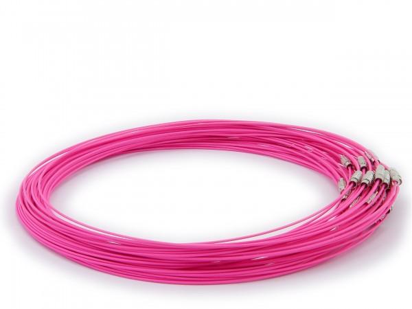 Halsreif aus Stahl ** Pink ** Schraubverschluss ** Länge ca. 45 cm