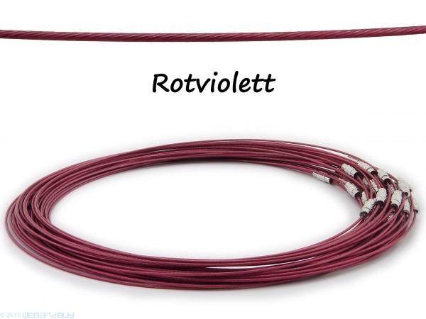 Halsreif aus Stahl ** Rotviolett ** Schraubverschluss ** Länge ca. 45 cm