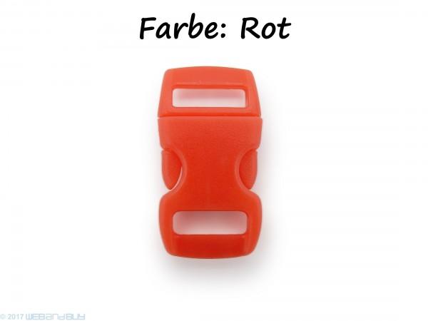 Click Clip Verschluss Rot Schnalle Steckverschluss für Paraco. Rucksack Gürtel