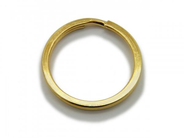 Schlüsselring / split Ring 25 mm Durchmesser Farbe Gold