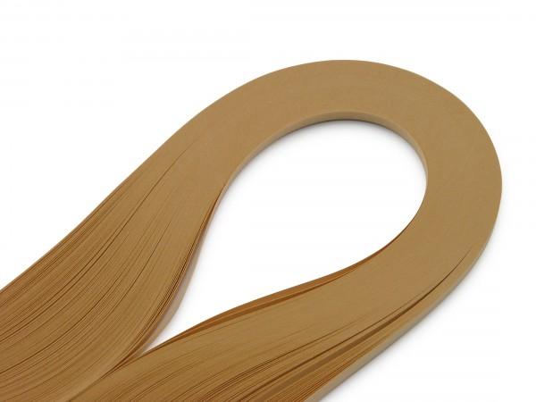 Quilling Papierstreifen Sandbraun 120 Stück 390mm lang 3mm breit