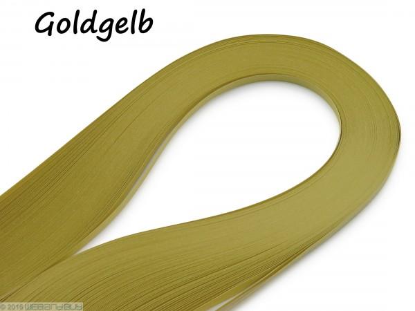Quilling Papierstreifen Goldgelb 120 Stück 390mm lang 3mm breit