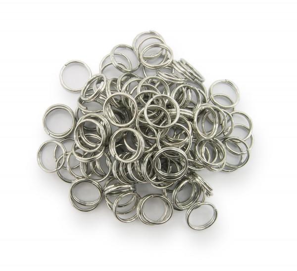 Schlüsselringe / split Rings 8mm Durchmesser Farbe Platin 15g ca.100 Stk
