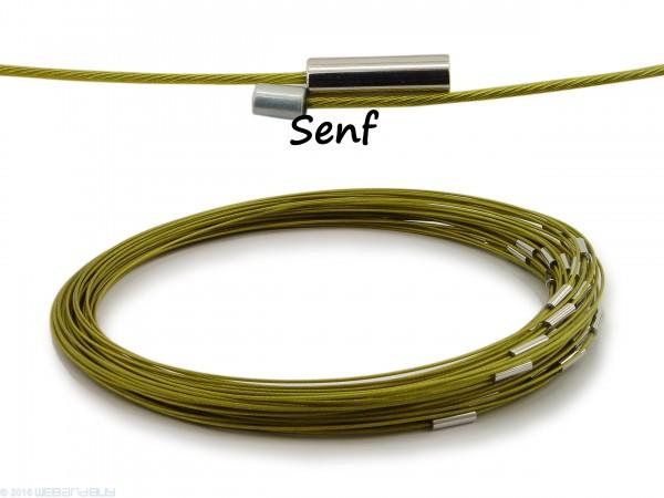 Halsreif aus Stahl Magnetverschluss Senf Länge ca. 50 cm