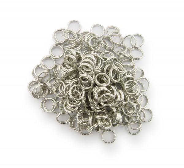 Schlüsselringe / split Rings 6mm Durchmesser Farbe Platin 50g ca.500 Stk