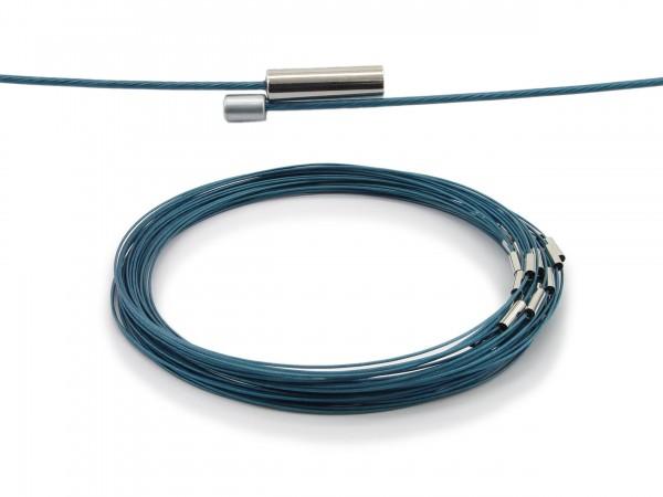 Halsreif aus Stahl Magnetverschluss Türkis Länge ca. 43 cm