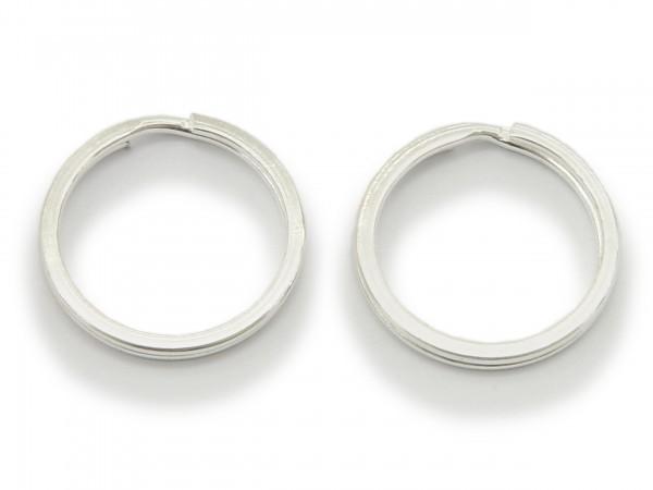 2 Schlüsselringe / split Rings 25 mm Durchmesser Farbe Silber
