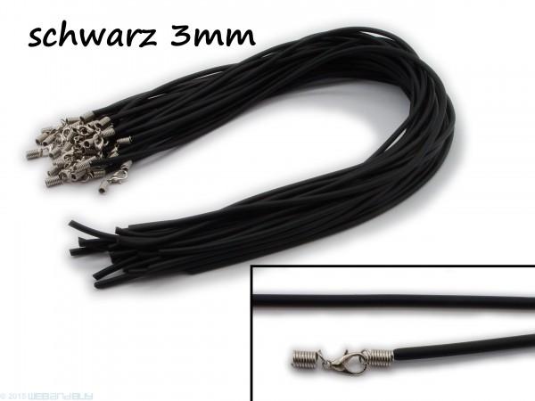 Halsreif aus Gummi Karabinerverschluss Länge ca. 43 cm Dicke 3 mm