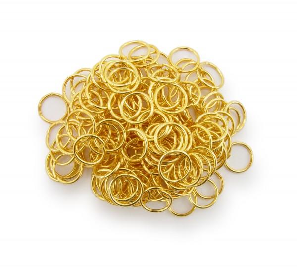 Binderinge / jump Rings 8mm Durchmesser Farbe Gold 50g ca.550 Stk