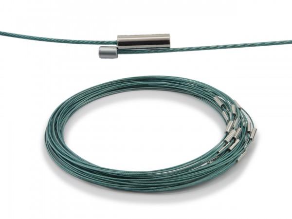 Halsreif aus Stahl Magnetverschluss Petrol Länge ca. 43 cm
