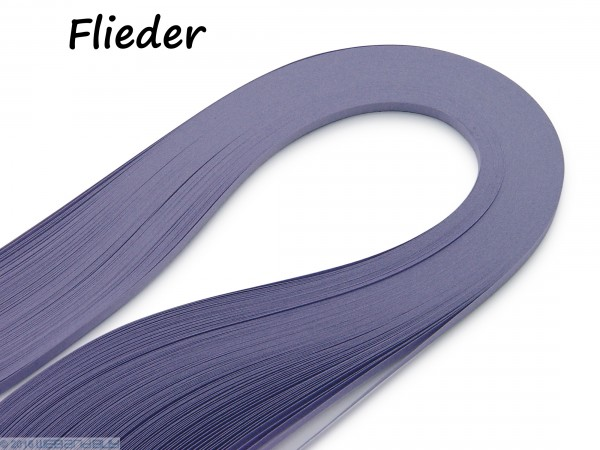 Quilling Papierstreifen Flieder 120 Stück 390mm lang 3mm breit