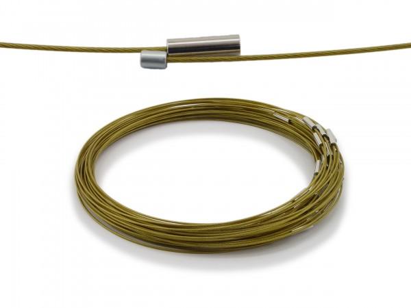 Halsreif aus Stahl Magnetverschluss Farbe: Messing Länge ca. 43 cm