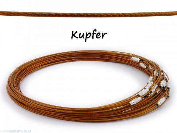 Halsreif aus Stahl ** Farbe: Kupfer ** Schraubverschluss ** Länge ca. 45 cm