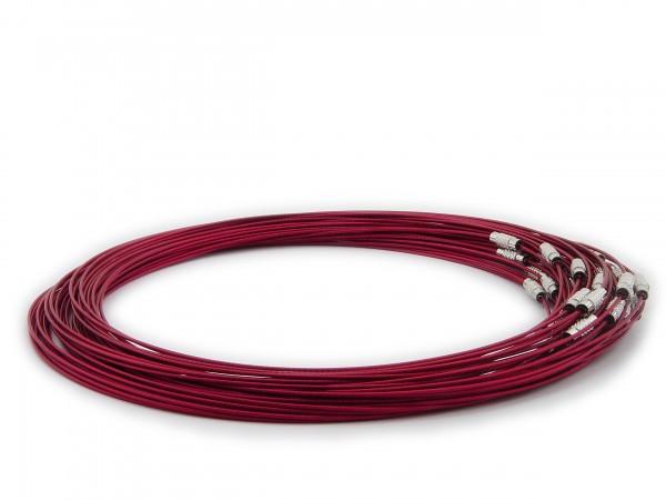 Halsreif aus Stahl ** Bordeauxrot ** Schraubverschluss ** Länge ca. 45 cm